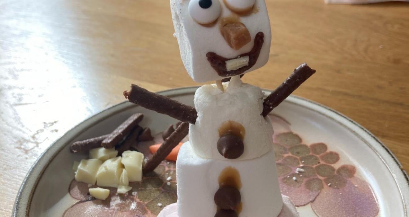Picture of a make your own Olaf activity for kids