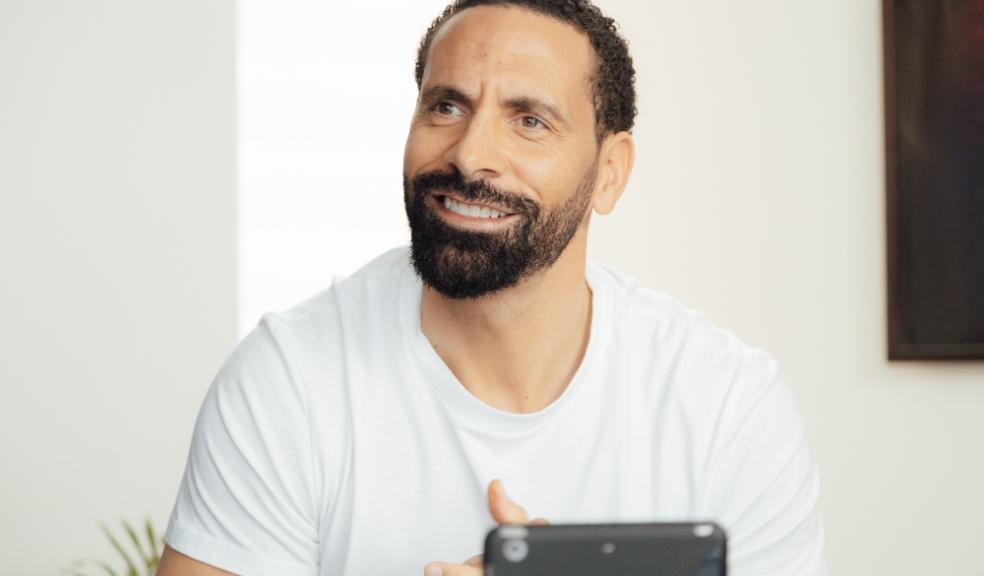 Picture of Rio Ferdinand with the Peperami beat the bland campaign
