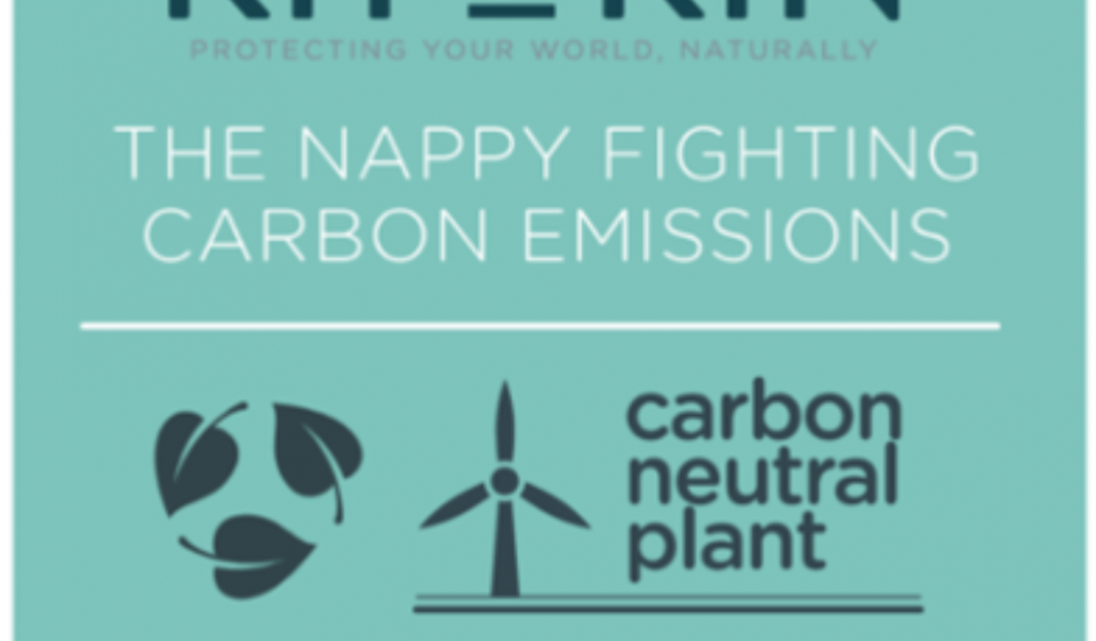Picture of an infographic for the Kit and Kit Nappy fighting carbon emissions