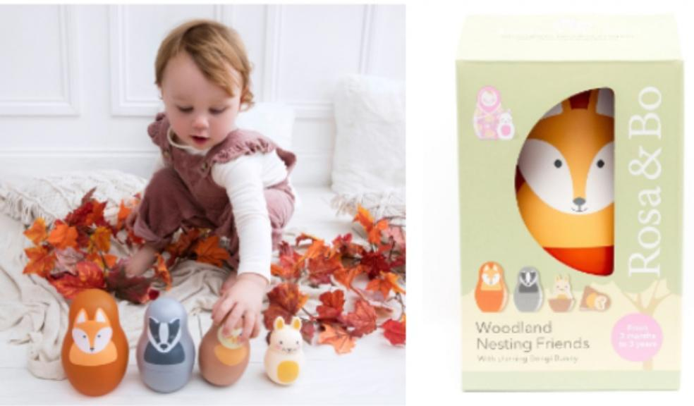Picture of new rosa & bo new woodland nesting friends toy for babies