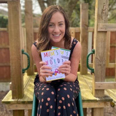 picture of Rebecca Oxtoby launching her new book mums the word 2