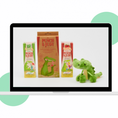Picture of punch and judy dental care products