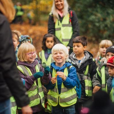 Picture of children at school exploring nature