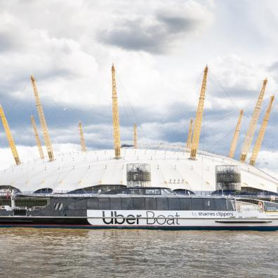 picture of uber boar by Thames clippers London