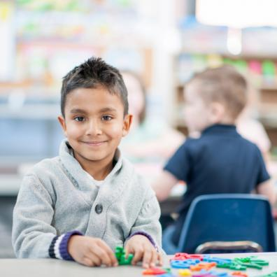 Picture of a child starting school