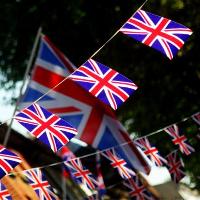 Picture of great british flag bunting for queens jubilee