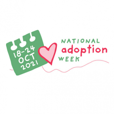 Picture of an infographic for national adoption week