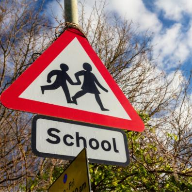 Picture of a school traffic sign