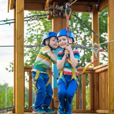 picture of children having fun at an adventure playground