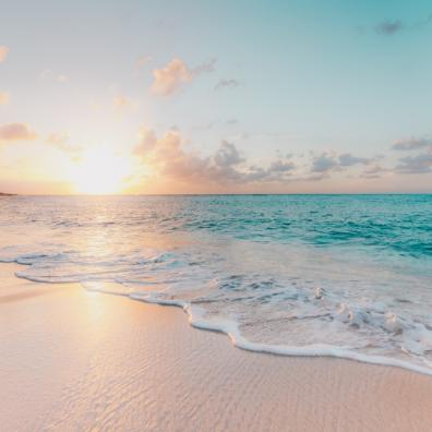 A picture of a beautiful beach