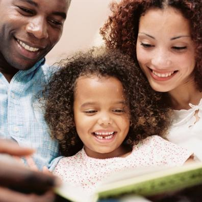 Picture of a family reading together