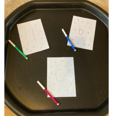 Picture of a letter finding activity for kids