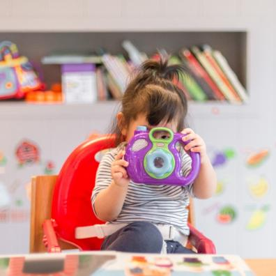 Picture of a child at a childcare setting