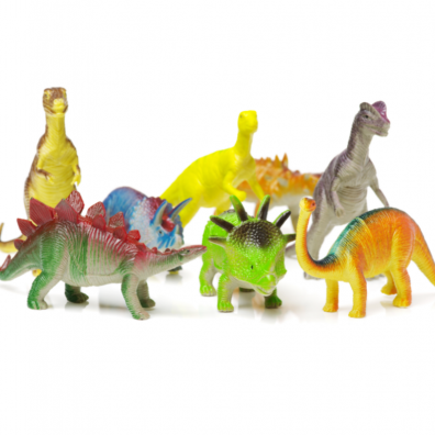 Picture of toy dinosaurs